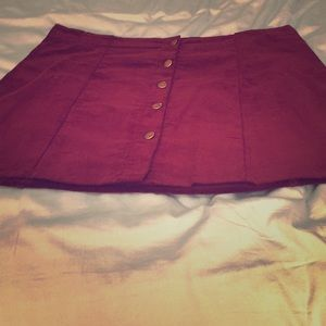 In time for Fall/Winter:  wine corduroy skirt